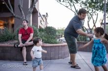 """Ellie practicing her """"Kung Fu Panda"""" moves on Evan"""