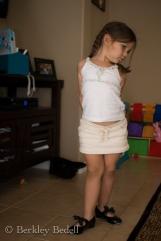 Ellie displays her new tap shoes.