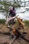 Maasai style of roasting meat